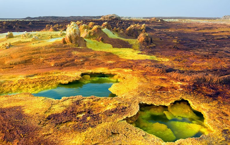 вулкан Даллол (Эфиопия). Фото / Dallol volcano (Ethiopia). Photo