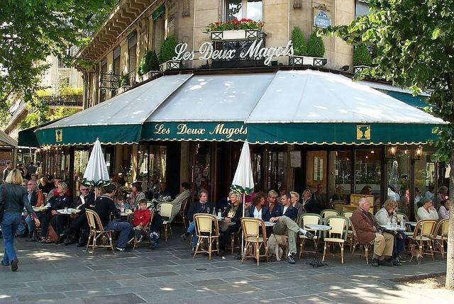 Кафе Два Маго в Париже