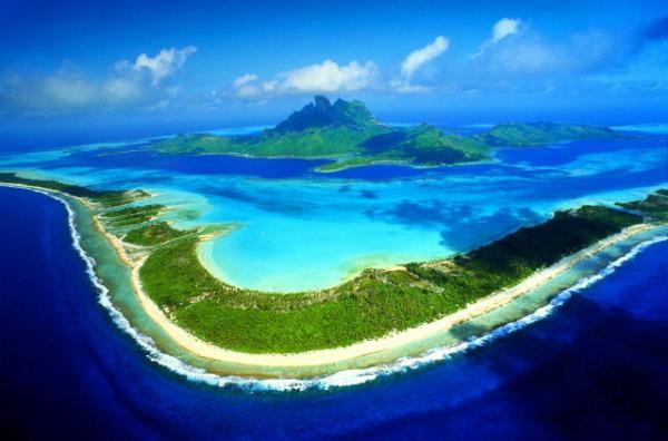 острова атоллы в Тихом океане