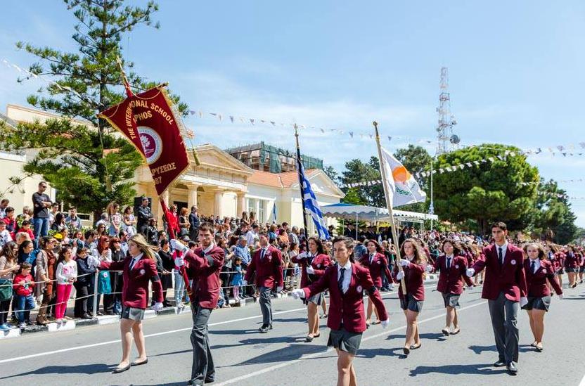 День независимости Греции. Парад в Пафосе