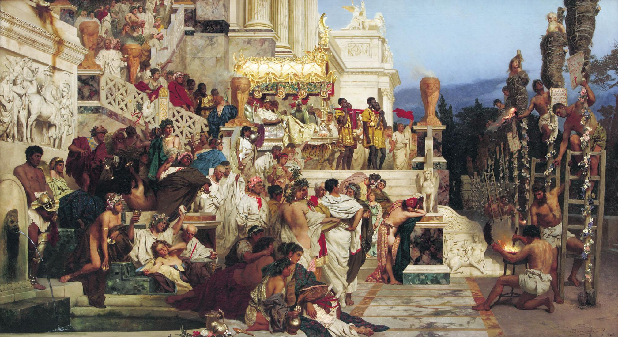 «Светочи христианства (Факелы Нерона)». Картина Генриха Семирадского, 1882