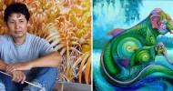 Kris Surajaroenjai и его разноцветные слоны