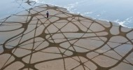 Андрес Амадор и его рисунки на песке (20 фото)