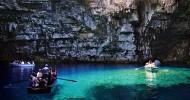 Пещерное озеро Мелиссани в Греции (23 фото)