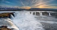 Водопад Годафосс в Исландии фото