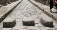 Пешеходная зебра 2000 лет назад