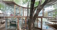 Креативный павильон для японского детского сада Фудзи