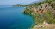 Охридское озеро, Македония и Албания.
