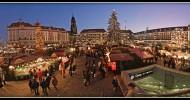 Рождественский рынок Штрицельмаркт, Дрезден, Германия.