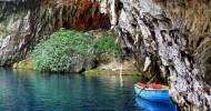 Пещерное озеро Мелиссани — красивые места Греции