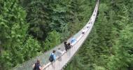 Висячий мост Капилано в Ванкувере, Канада.