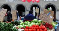 Рынок Долац в Загребе, Хорватия