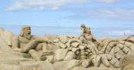 Скульптуры из песка — достопримечательность Лаппеенранты (Финляндия)