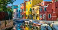 Италия: яркие домики в Бурано