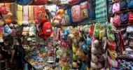 Ночной рынок на улице Темпл-стрит, Гонконг, Китай.