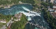 Рейнский водопад, фото водопада в Швейцарии