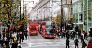 Улица Оксфорд-стрит в Лондоне, Англия — ФОТО
