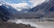 Ледник Тасмана в Новой Зеландии.