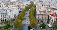 Улица Рамбла в Барселоне, Испания.