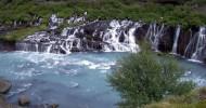 Водопад Храунфоссар в Исландии — ФОТО