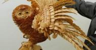 Удивительные скульптуры из стружки Сергея Бобкова (33 фото)