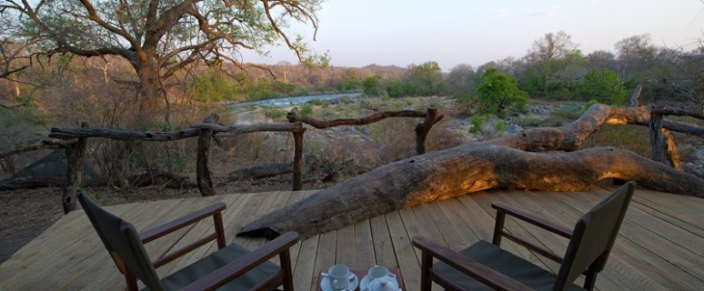 Sit on the private deck and marvel at the sights and sounds of the river