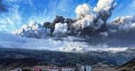 Вулкан Эйяфьядлайёкюдль в Исландии, фото извержение вулкана