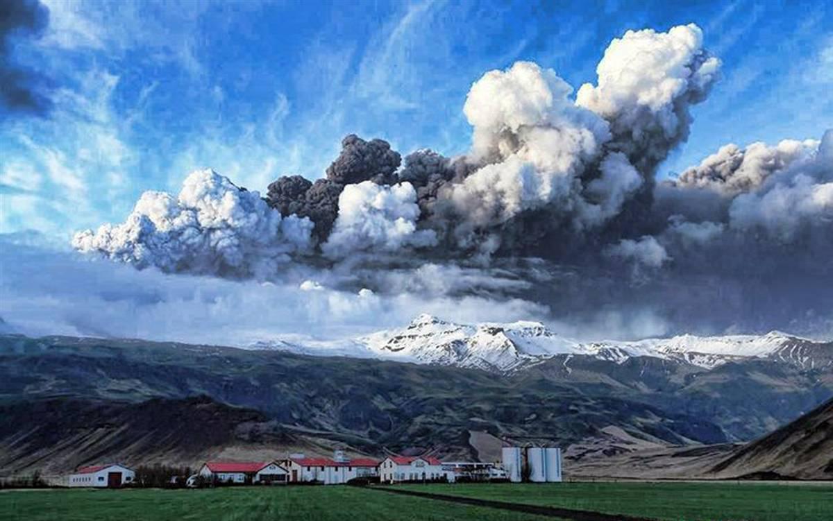 эйяфьятлайокудль вулкан фото