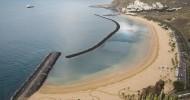 Пляж Тереситас на Канарских островах, Испания.