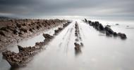 Турбидиты на побережье города Баррика (Испания). 30 фото