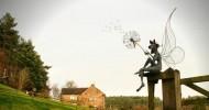 Скульптуры фей из проволоки (22 фото)