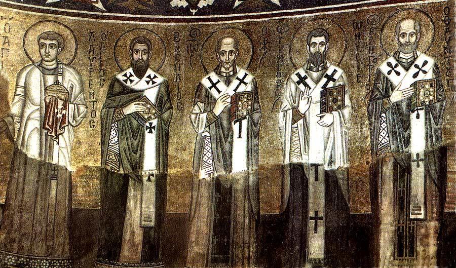Мозаика Софийского собора в Киеве. 1040-е гг. Фрагмент. Правая сторона
