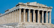 Древнегреческий храм Парфенон в Афинах