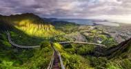 Хайку – лестница в небеса на острове Оаху, Гавайи (21 фото)