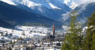 Давос — горнолыжный курорт в Швейцарии, фото курорта