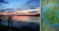 Озеро Маникуаган, возникшее на месте падения метеорита
