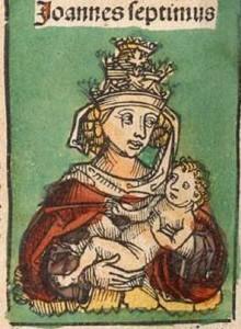 Картина с изображением Иоанны с ребенком