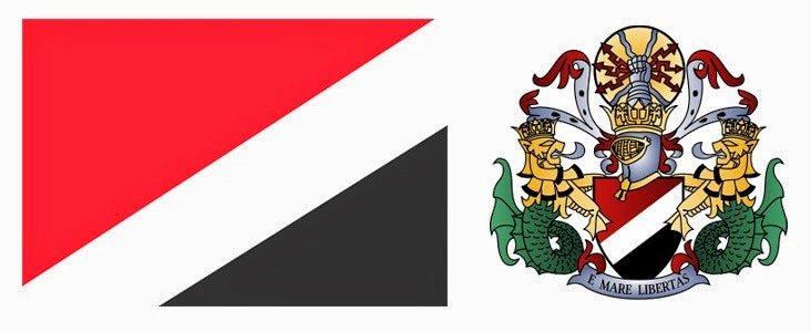 Флаг и герб княжества Силенд (Sealand)