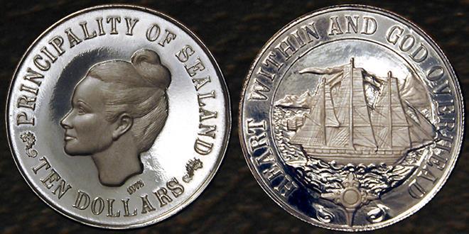 Монеты княжества Силенд (Sealand)