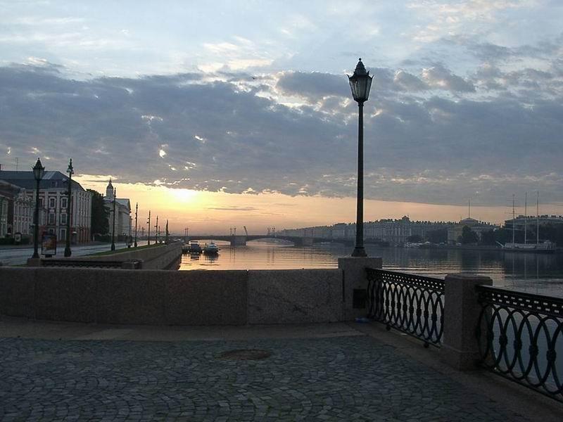 Санкт-Петербург, Нева, Университетская набережная