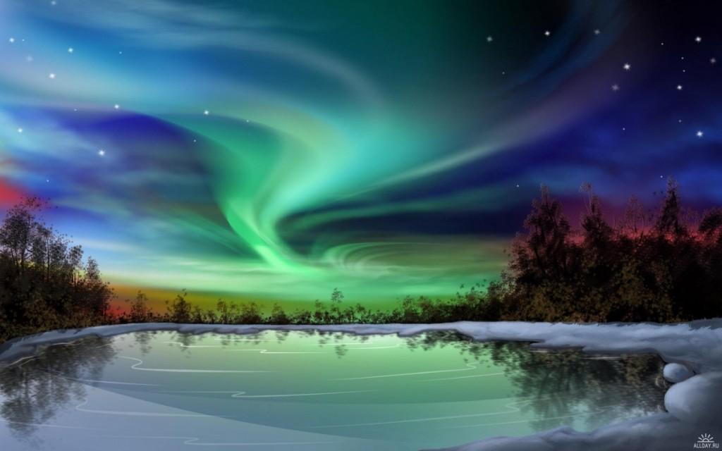 Северное сияние в Лапландии – завораживающее зрелище