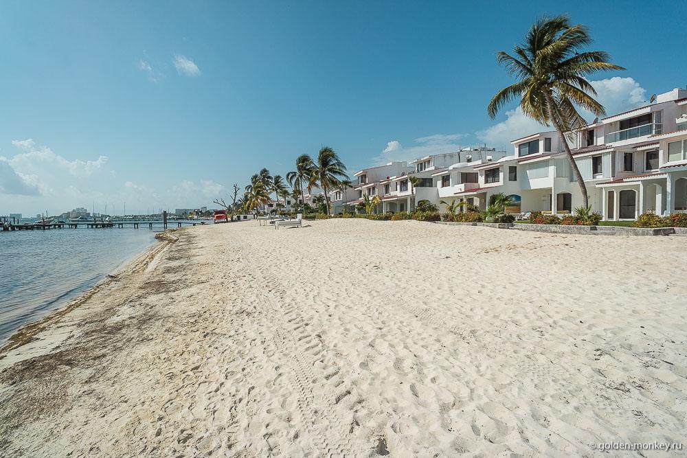 Канкун, прибрежная полоса пляжа Лас-Перлас