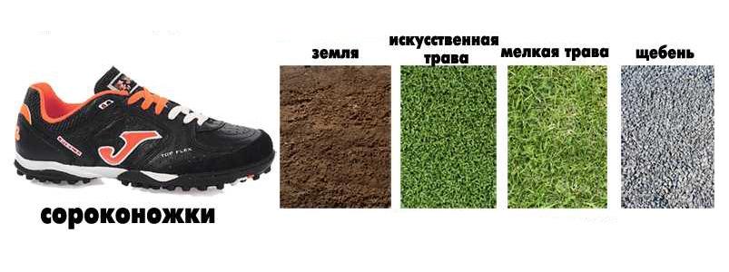 Cороконожки для футбола