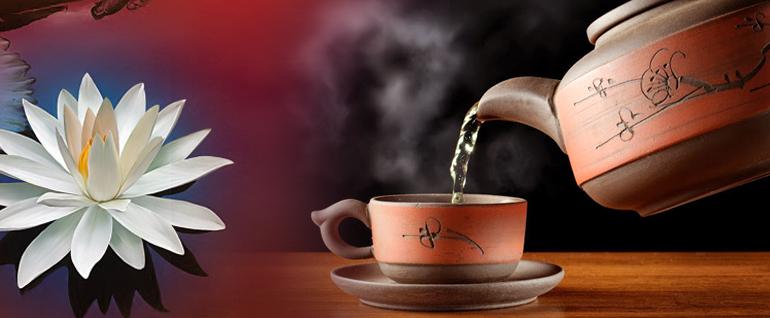 Чай с листьями лотоса