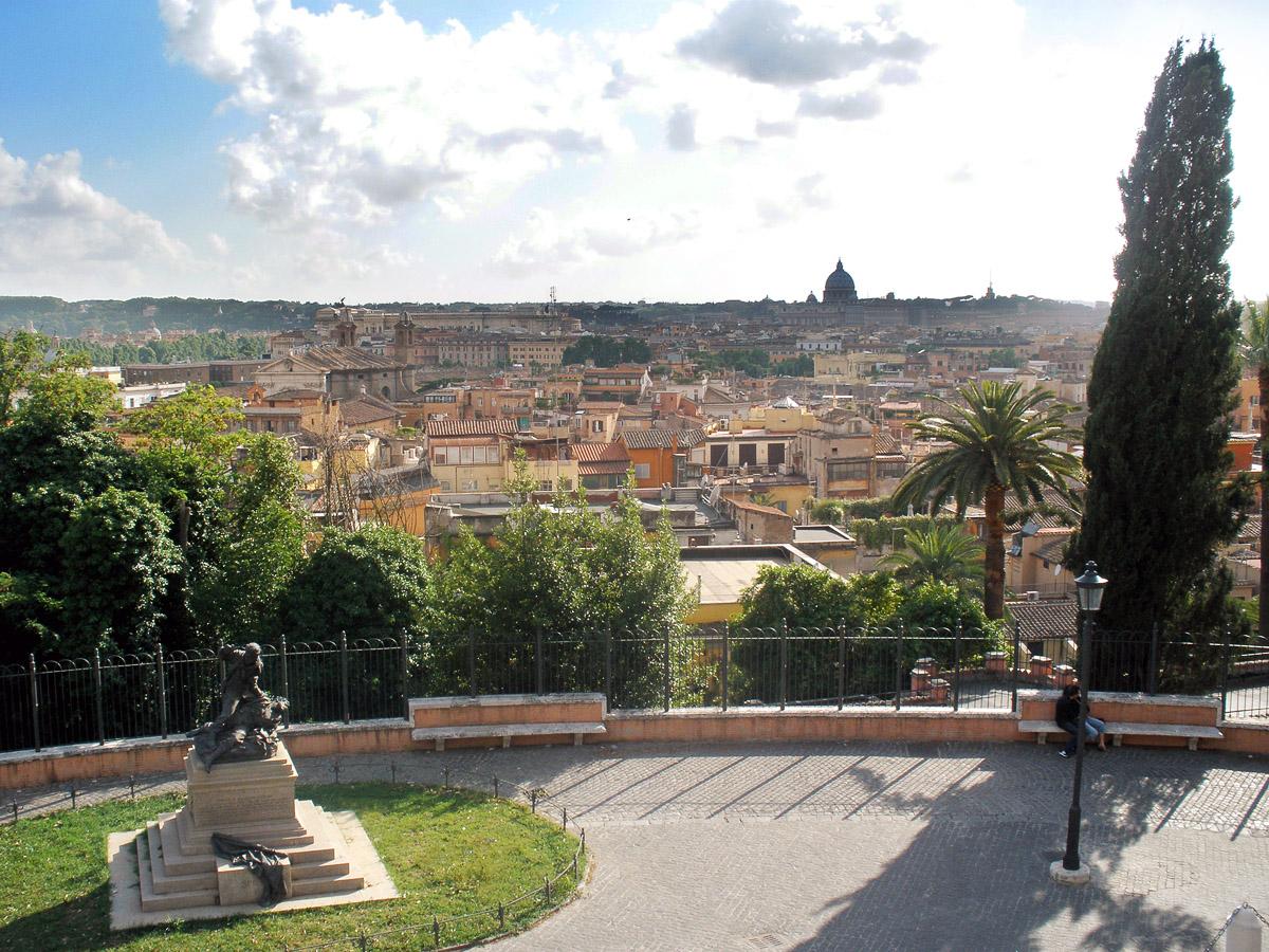 Самый большой парк Рима «Вилла Боргезе» на холме Пинчо