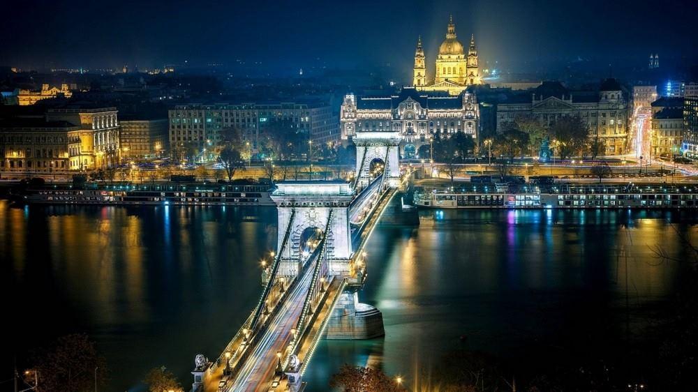 Цепной мост Сечени. Будапешт