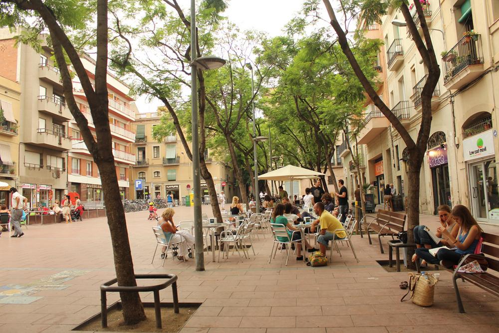 Грасия – яркий каталонский район, который до XIX века был самостоятельным городом.