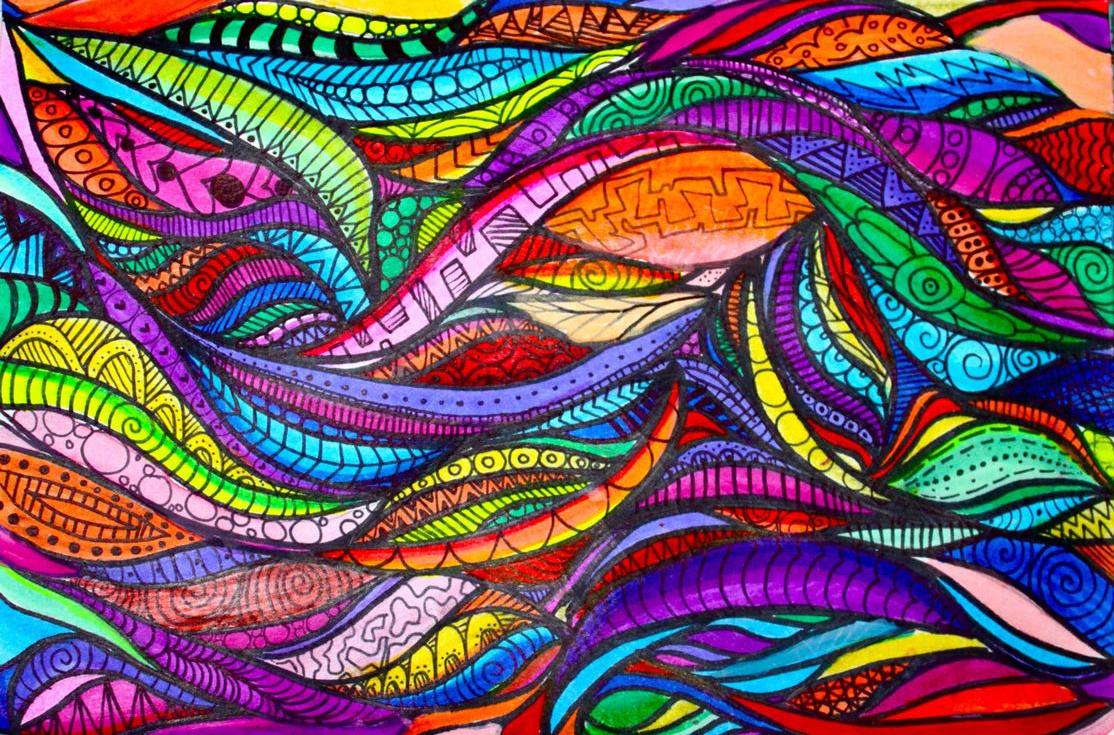 Дудлинг (doodling) - стиль рисования (бессознательные каракули)